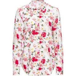 Bluzki damskie: Bluzka w kwiaty bonprix biel wełny w kwiaty