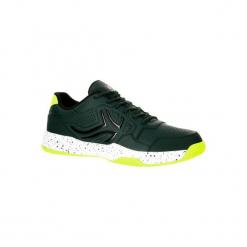 Buty tenisowe TS190 męskie na twardą nawierzchnię. Zielone buty do tenisa męskie ARTENGO, z kauczuku. W wyprzedaży za 89,99 zł.