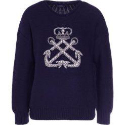 Swetry klasyczne damskie: Polo Ralph Lauren EMBELLISHED Sweter navy