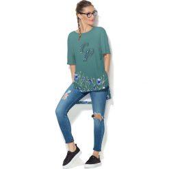 Colour Pleasure Koszulka damska CP-033 251 zielona r. uniwersalny. Fioletowe bluzki damskie marki Colour pleasure, uniwersalny. Za 76,57 zł.