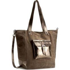 Torebka CREOLE - K10295 Ciemny Beż/Złoty. Brązowe torebki klasyczne damskie Creole, ze skóry. W wyprzedaży za 189,00 zł.