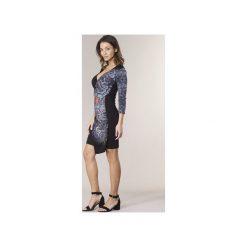 Sukienki krótkie Desigual  POLED. Czarne sukienki hiszpanki Desigual, m, z krótkim rękawem, mini. Za 244,30 zł.