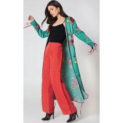 Płaszcze damskie pastelowe: Free People Kimonowy płaszcz Duster - Green,Multicolor