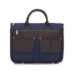 Męska nowoczesna torba, teczka GARNER. Szare torby na laptopa marki Solier, w paski, ze skóry ekologicznej. Za 219,00 zł.