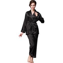 Piżamy damskie: 2-częściowa piżama w kolorze czarnym