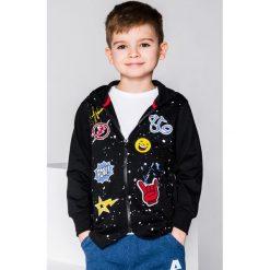 Bluzy chłopięce rozpinane: BLUZA ROZPINANA Z KAPTUREM DZIECIĘCA KB017 - CZARNA