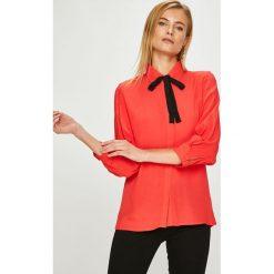 Answear - Koszula. Szare koszule wiązane damskie ANSWEAR, l, z tkaniny, casualowe, z klasycznym kołnierzykiem, z długim rękawem. W wyprzedaży za 99,90 zł.