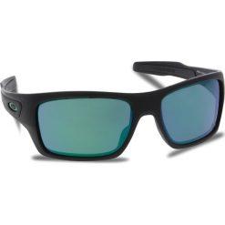 Okulary przeciwsłoneczne OAKLEY - Turbine OO9263-15 Matte Black/Jade Iridium. Czarne okulary przeciwsłoneczne męskie aviatory Oakley, z tworzywa sztucznego. W wyprzedaży za 579,00 zł.