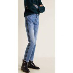 Mango - Jeansy Green. Zielone proste jeansy damskie Mango. Za 199,90 zł.