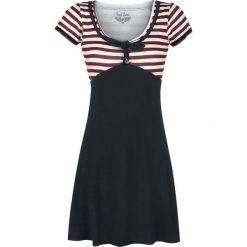 Rock Rebel by EMP Ain't She Sweet Sukienka czarny. Białe sukienki na imprezę marki Molly.pl, na lato, s, w jednolite wzory, z bawełny, z dekoltem na plecach, mini, dopasowane. Za 164,90 zł.