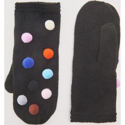 Rękawiczki z kolorowymi pomponami - Czarny. Czarne rękawiczki damskie House, w kolorowe wzory. Za 35,99 zł.
