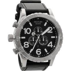 Zegarki męskie: Zegarek męski All Black Nixon 51-30 Chrono leather A1241000