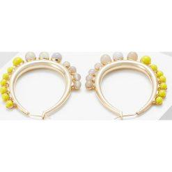 Kolczyki damskie: Anton Heunis OVAL EARRING Kolczyki yellow/grey