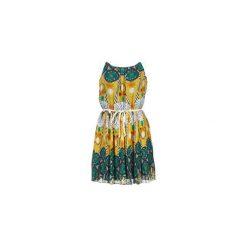 Sukienki krótkie Molly Bracken  LAMELOCH. Żółte sukienki mini marki Molly Bracken, z krótkim rękawem. Za 164,30 zł.