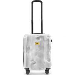 Walizka Stripe kabinowa Bianco White. Szare walizki marki Crash Baggage, z materiału. Za 1049,00 zł.
