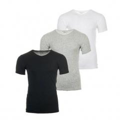 Tommy Hilfiger 3 Pack T-Shirt Męski Xl Wielokolorowe. Szare t-shirty męskie marki TOMMY HILFIGER, z bawełny. Za 189,00 zł.