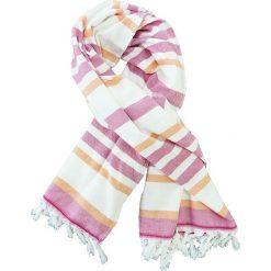 """Kąpielówki męskie: Fouta """"Atmosphere"""" w kolorze biało-różowym – 160 x 90 cm"""