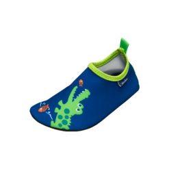 Playshoes  Buty do wody Krokodyl marine - niebieski - Gr.Moda (6 - 24 miesięcy ). Niebieskie buciki niemowlęce chłopięce marki Born2be, z materiału, z okrągłym noskiem, na obcasie. Za 59,00 zł.