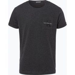 Calvin Klein Jeans - T-shirt męski, szary. Czarne t-shirty męskie z nadrukiem marki Calvin Klein Jeans, z bawełny. Za 179,95 zł.