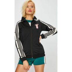 Adidas Originals - Bluza Track Top. Szare bluzy z kieszeniami damskie marki adidas Originals, s, z nadrukiem, z dzianiny, bez kaptura. Za 279,90 zł.