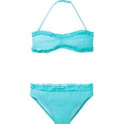 Stroje dwuczęściowe dziewczęce: Bikini dziewczęce (2 części) bonprix morsko-biały w kropki