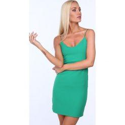Sukienka na cienkich ramiączkach zielona 22405. Zielone sukienki Fasardi, m, na ramiączkach. Za 39,00 zł.