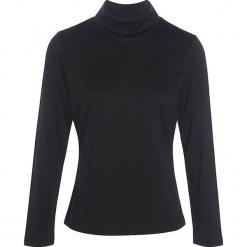 """Koszulka """"Soicol"""" w kolorze czarnym. Czarne bluzki z odkrytymi ramionami marki Scottage, klasyczne, ze stójką, z długim rękawem. W wyprzedaży za 72,95 zł."""