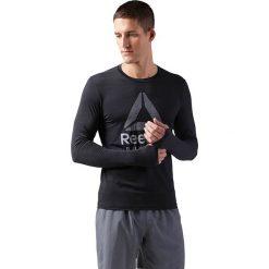 Koszulka do biegania męska REEBOK ACTIVCHILL RUNNING LONG SLEEVE TEE / CD5443. Czarne koszulki do biegania męskie Reebok, m, z długim rękawem. Za 159,00 zł.
