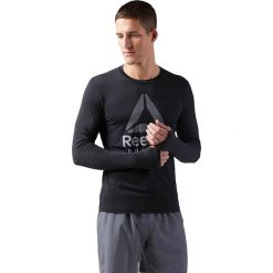 Koszulka do biegania męska REEBOK ACTIVCHILL RUNNING LONG SLEEVE TEE / CD5443. Czarne koszulki do biegania męskie marki Reebok, m. Za 159,00 zł.