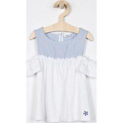 Blukids - Top dziecięcy 98-128 cm. Szare bluzki dziewczęce bawełniane Blukids, z okrągłym kołnierzem, bez rękawów. Za 49,90 zł.