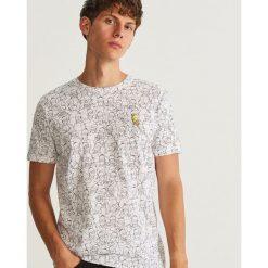 T-shirt THE SIMPSONS - Biały. Niebieskie t-shirty męskie marki Reserved. Za 49,99 zł.
