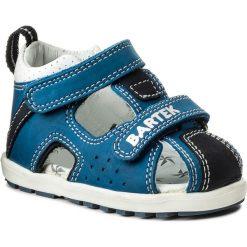 Sandały BARTEK - 011691-1-1P1 II Niebiesko Szary. Niebieskie sandały chłopięce Bartek, z nubiku. Za 139,00 zł.
