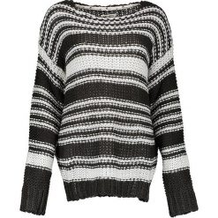 Sweter w kolorze czarno-białym. Białe swetry klasyczne damskie marki Billabong, xs, z dzianiny, z okrągłym kołnierzem. W wyprzedaży za 193,95 zł.