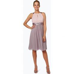 Marie Lund - Damska sukienka koktajlowa, beżowy. Brązowe sukienki mini Marie Lund, z szyfonu, z krótkim rękawem. Za 499,95 zł.