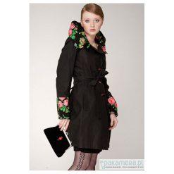Płaszcz damski , prosty, czarny folk. Niebieskie płaszcze damskie marki Pakamera, z bawełny. Za 560,00 zł.