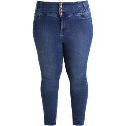 New Look Curves DARK WASH Jeans Skinny Fit dark blue. Niebieskie rurki damskie New Look Curves. W wyprzedaży za 134,10 zł.