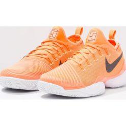 Nike Performance MEN AIR ZOOM ULTRA REACT HC Obuwie do tenisa Outdoor tart/black/white/sunset glow. Żółte buty do tenisa męskie Nike Performance, z materiału. W wyprzedaży za 440,30 zł.