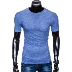 T-SHIRT MĘSKI BEZ NADRUKU S885 - NIEBIESKI. Niebieskie t-shirty męskie z nadrukiem marki Ombre Clothing, m, z bawełny. Za 19,99 zł.
