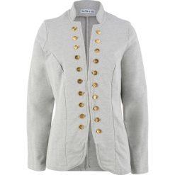 Żakiet dresowy, długi rękaw, z kolekcji Maite Kelly bonprix jasnoszary melanż. Brązowe marynarki i żakiety damskie marki bonprix. Za 99,99 zł.