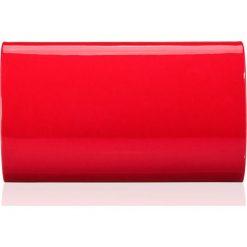 Czerwona damska kopertówka   LAKIER. Czerwone kopertówki damskie marki Felice, w paski, z lakierowanej skóry, małe. Za 69,00 zł.