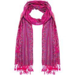 Apaszki damskie: Różowa apaszka z orientalnym wzorem QUIOSQUE