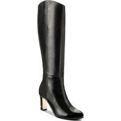 Kozaki GINO ROSSI - DKG070-D57-C400-9900-F Czarny 99. Czarne buty zimowe damskie marki Gino Rossi, z materiału, na obcasie. W wyprzedaży za 349,00 zł.