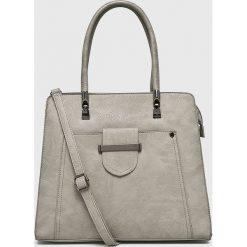 Answear - Torebka. Szare torebki klasyczne damskie ANSWEAR, z materiału, duże. W wyprzedaży za 99,90 zł.