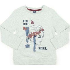 Bluza w kolorze kremowym. Białe bluzy dziewczęce marki Street Monkey, z bawełny. W wyprzedaży za 49,95 zł.