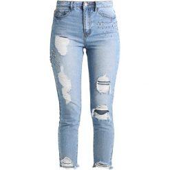 New Look TORI GEM MOM Jeansy Slim Fit mid blue. Czarne jeansy damskie marki New Look, z materiału, na obcasie. Za 269,00 zł.