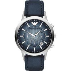 Emporio Armani - Zegarek AR2473. Szare zegarki męskie marki Emporio Armani, l, z nadrukiem, z bawełny, z okrągłym kołnierzem. Za 1299,00 zł.