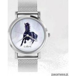 Zegarki męskie: Zegarek – Czarny koń – metalowy