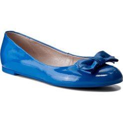 Baleriny GINO ROSSI - Rosa DAG855-N66-JE00-5300-0 55. Niebieskie baleriny damskie lakierowane marki Gino Rossi, z lakierowanej skóry. W wyprzedaży za 199,00 zł.