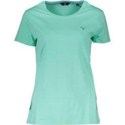 T-shirt w kolorze zielonym. Zielone t-shirty męskie marki GANT, m, z okrągłym kołnierzem. W wyprzedaży za 169,95 zł.