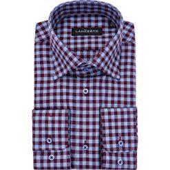 Koszula Bordowo-Niebieska w Kratę Mercury. Czerwone koszule męskie jeansowe marki LANCERTO, m, w kratkę. Za 299,90 zł.